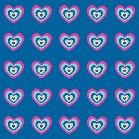 I Love Rock 'n' Roll! - Rock & Royalty - Tropcial Fabungalow - © PinkSodaPop 4ComputerHeaven.com fabric by pinksodapop on Spoonflower - custom fabric