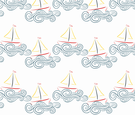 sailing2 fabric by mgterry on Spoonflower - custom fabric