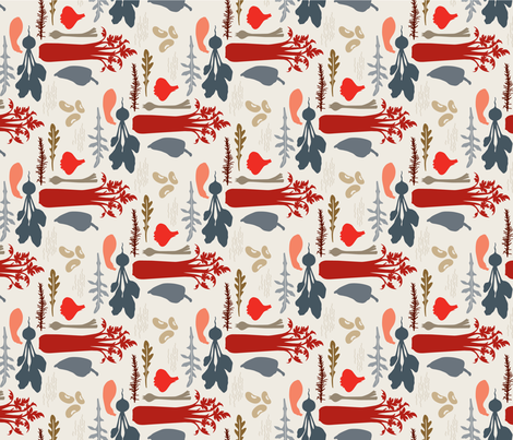 DeliciouslyLovely_red_grey fabric by brandbird on Spoonflower - custom fabric