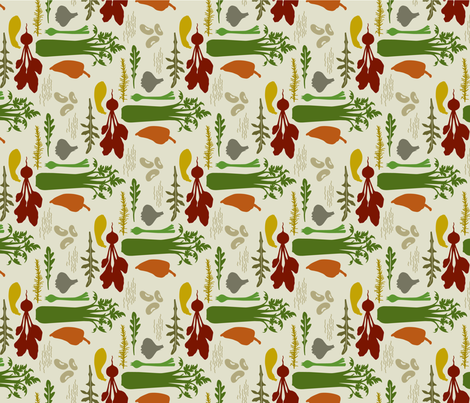 DeliciouslyLovely_rust_green fabric by brandbird on Spoonflower - custom fabric