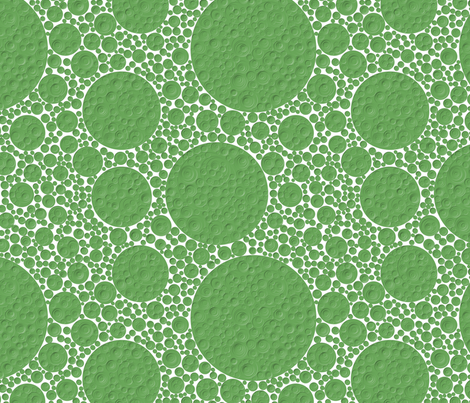bumpy green circles, 12 inch repeat fabric by craige on Spoonflower - custom fabric
