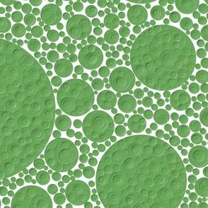 bumpy green circles, 12 inch repeat