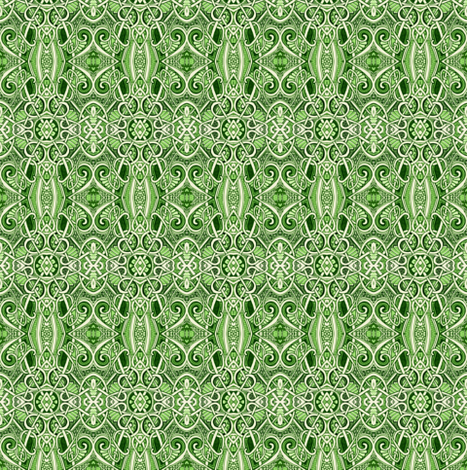Wishing It Were Money (a fine scale green abstract) fabric by edsel2084 on Spoonflower - custom fabric
