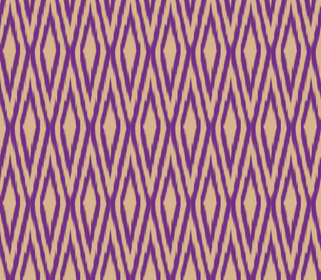 Double Diamond Ikat fabric by fable_design on Spoonflower - custom fabric