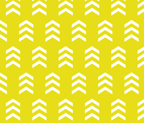 Simple Chevron Print, Citrine fabric by nicoleporter on Spoonflower - custom fabric