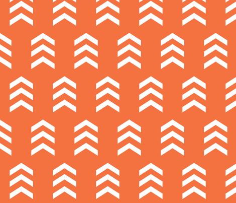 Orange Chevron Print