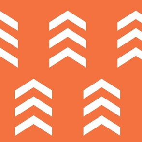 Simple Chevron Print, Orange