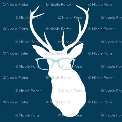 Smarty Pants Deer, Navy