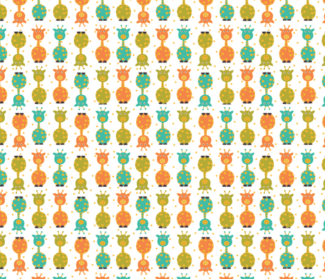 baby dots and giraffe fabric by cherished_dreams on Spoonflower - custom fabric