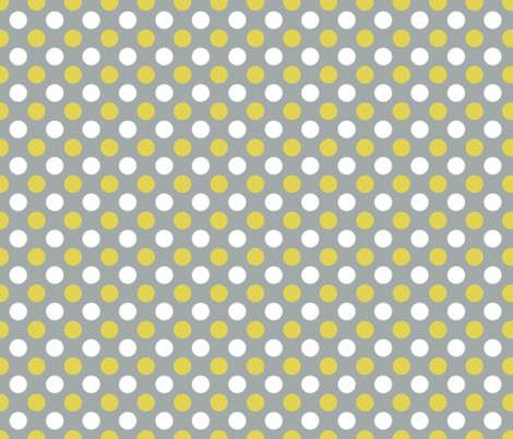 polka dots gray and yellow fabric by alihenrie on Spoonflower - custom fabric