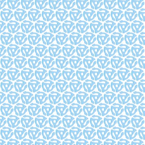 33 to 45 (Blue) || vinyl analog music dj records retro 60s 70s 80s fabric by pennycandy on Spoonflower - custom fabric