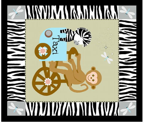 funday quilt / monkey fabric by paragonstudios on Spoonflower - custom fabric