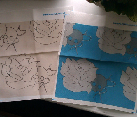 blue skull rose