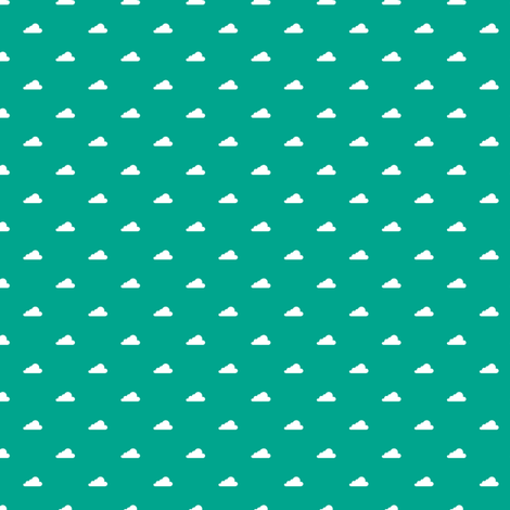 clouds in emerald fabric by chantae on Spoonflower - custom fabric
