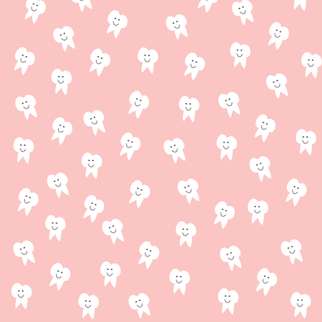 Tooth Fairy on Pink fabric by halfpinthome on Spoonflower - custom fabric