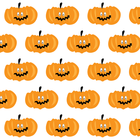 Pumpkin. fabric by halfpinthome on Spoonflower - custom fabric