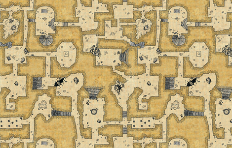 Old School Dungeon fabric by quietlyscheming on Spoonflower - custom fabric