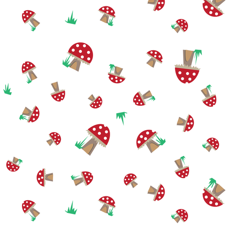 Mushroom Forest fabric by halfpinthome on Spoonflower - custom fabric
