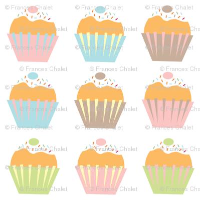 A Shelf of Cupcakes.