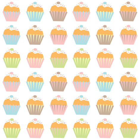 A Shelf of Cupcakes. fabric by halfpinthome on Spoonflower - custom fabric