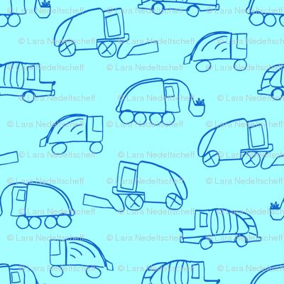 LaraGeorgine_Garbage_Trucks_blue