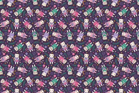 Playful Kittens fabric by anitakingsley on Spoonflower - custom fabric
