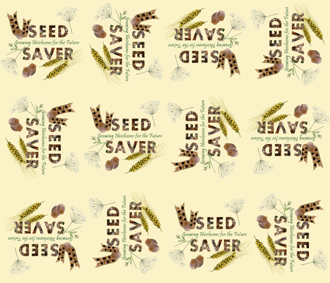 Seed Saver (light) fabric by arts_and_herbs on Spoonflower - custom fabric