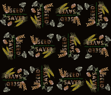 Seed Saver (dark) fabric by arts_and_herbs on Spoonflower - custom fabric