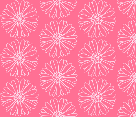Daisy Daisy in Pink fabric by thepinkhome on Spoonflower - custom fabric