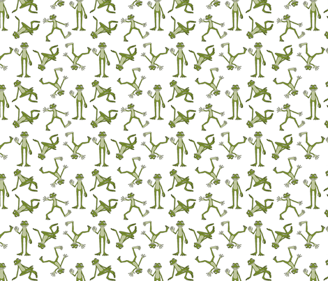 Green Cartoon Frogs fabric by barbie4364 on Spoonflower - custom fabric