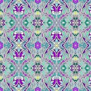 Tangled Purple and Teal Garden