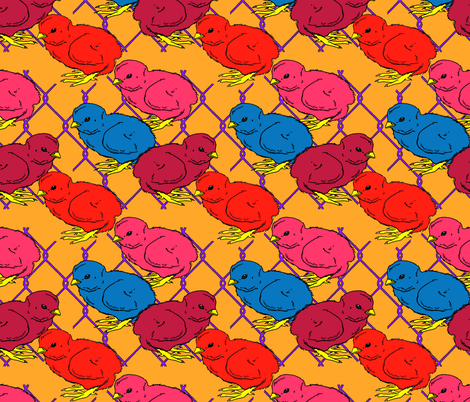 Chicks_Pop fabric by mammajamma on Spoonflower - custom fabric