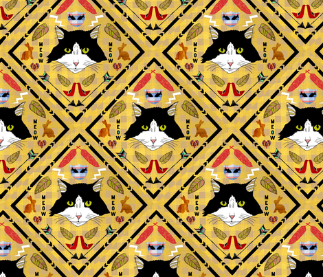 Cat Scout fabric by mbmb on Spoonflower - custom fabric