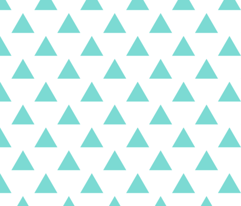 triangles blue fabric by alihenrie on Spoonflower - custom fabric