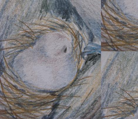 Bird in Nest fabric by bev_ on Spoonflower - custom fabric