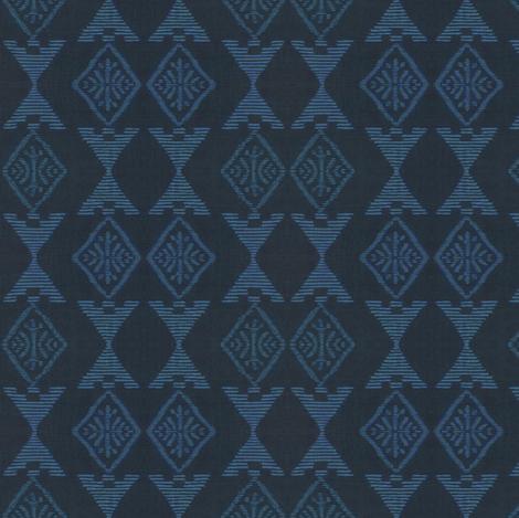 Native Sun - dark/light blue fabric by materialsgirl on Spoonflower - custom fabric