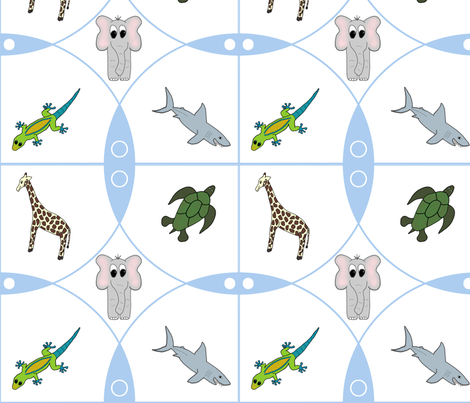 Baby Animal World fabric by kamilindoto on Spoonflower - custom fabric