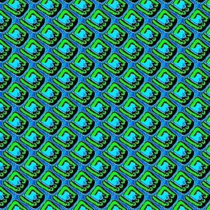 green and blue circle bandana