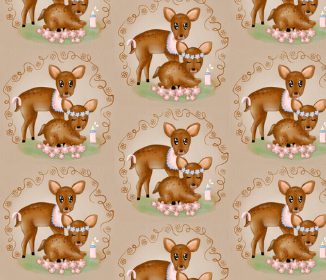 Baby Fawn fabric by deborah_hyvääfairy on Spoonflower - custom fabric