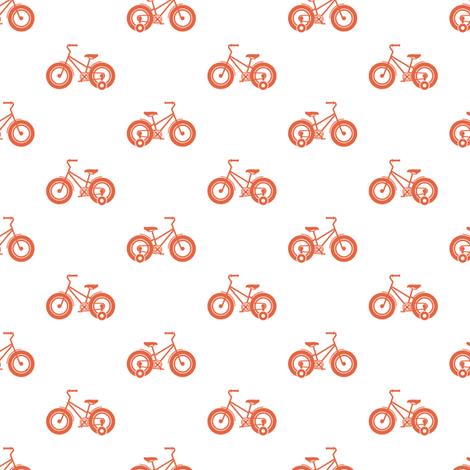 trikes orange fabric by chantae on Spoonflower - custom fabric