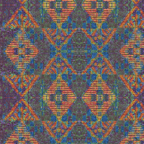 Native Sun variation - multi colored fabric by materialsgirl on Spoonflower - custom fabric