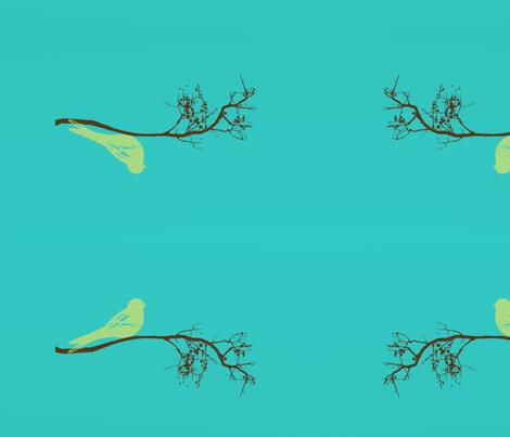 green_bird_centered_for_lumbar_pillow fabric by balanced on Spoonflower - custom fabric