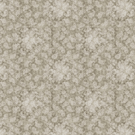 Paisley ditsy (warm greys) fabric by raccoons_rags on Spoonflower - custom fabric