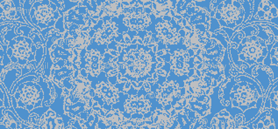 Blue Brocade