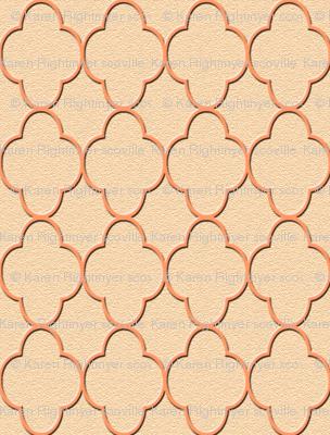quatrefoil peach