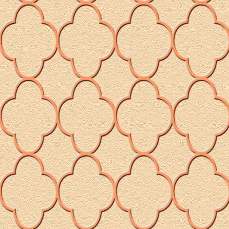 quatrefoil peach fabric by krs_expressions on Spoonflower - custom fabric