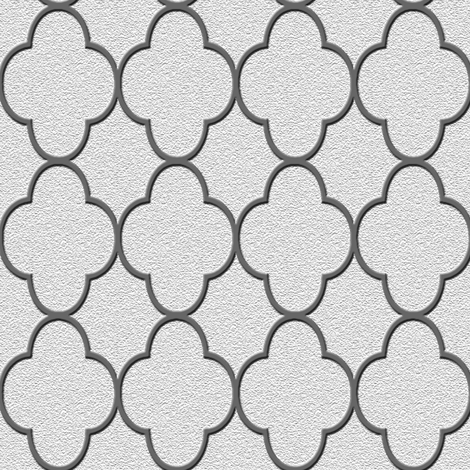 quatrefoil silver fabric by krs_expressions on Spoonflower - custom fabric