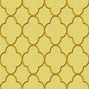 quatrefoil gold
