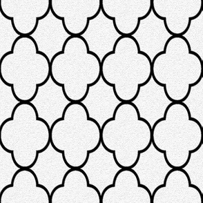quatrefoil black and white