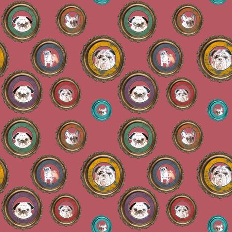 pug, french bulldog, english bulldog fabric by lil_creatures on Spoonflower - custom fabric
